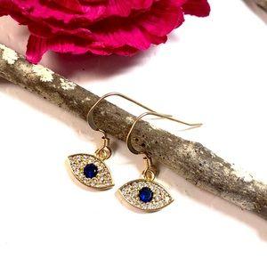 Evil Eye Earrings, Evil Eye Jewelry, Gold Filled